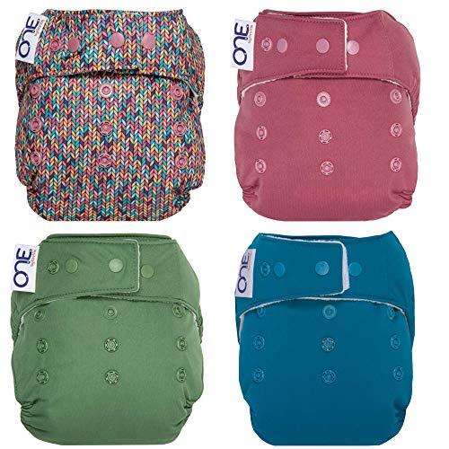 GroVia O.N.E. Reusable Baby Cloth Diaper - 4 Pack (Color Mix 2)