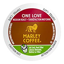 Marley Coffee Single Serve K-Cup Compatible Capsules, One Love 100% Ethiopian, Medium Roast, 24 Count