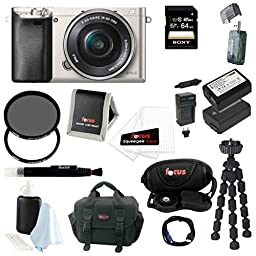 Sony Alpha a6000 24.3 MP Interchangeable Lens Camera with 16-50mm Power Zoom ...