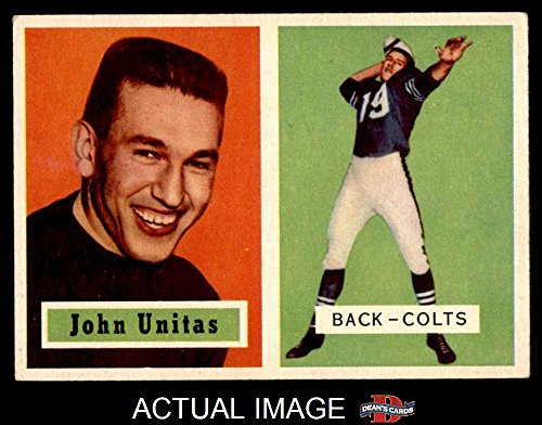 1957 Football (1957 Topps # 138 Johnny Unitas Baltimore Colts (Football Card) Dean's Cards 4 - VG/EX Colts)
