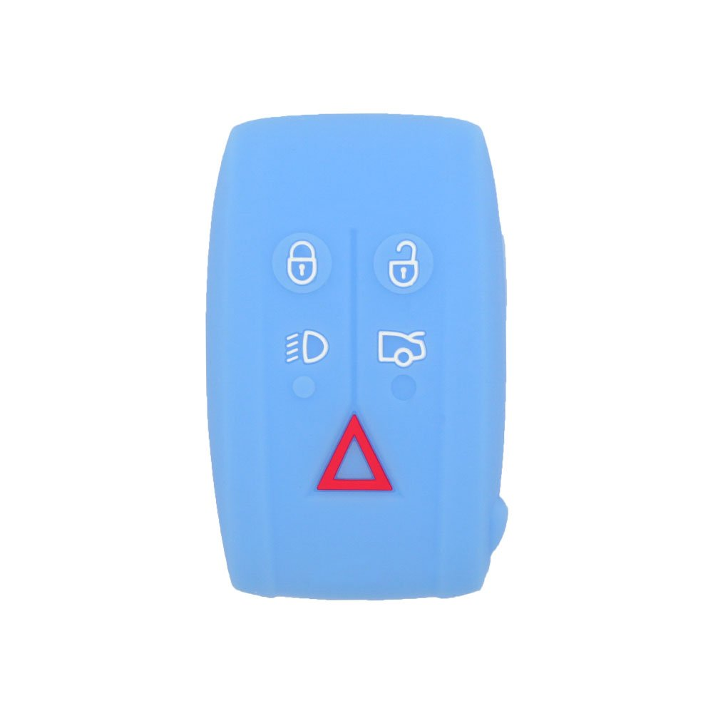 BROVACS Silicone Cover Protector Case Skin Jacket fit for JAGUAR 5 Button Smart Remote Key Fob CV4983 Deep Blue