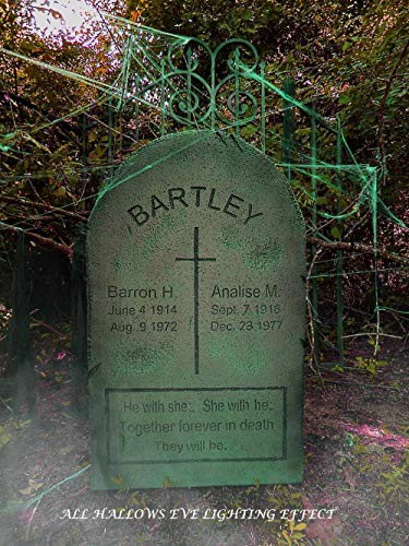 Evil Soul Studios Barron and Analise Bartley Cross Tombstone Headstone Cemetery Halloween Prop for Costume