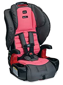 Britax Pioneer G1.1 Harness-2-Booster Car Seat, Coral