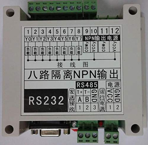 Lysee 8 transistor NPN output computer serial port control triode solenoid valve drive RS232 RS485
