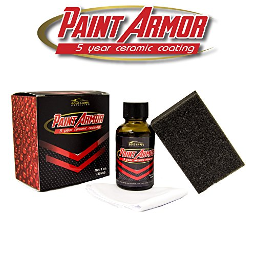 Gold Label Detailing Paint Armor 5 Year Ceramic Coating 30ml | Scratch Resistant 9H Hardness | Liquid Paint Protection | Increase Gloss and Shine | Hydrophobic | UV Resistant