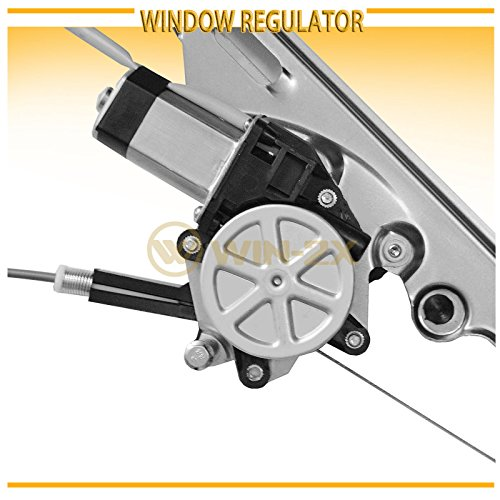 1pc Front Right Passenger Power Window Regulator w// Motor Fit Cadillac//Chevy//GMC