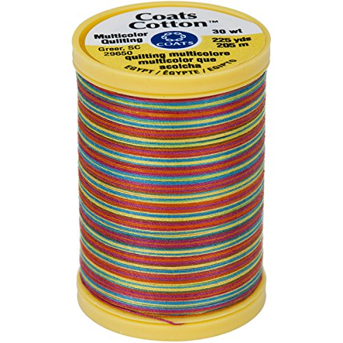 Coats Cotton Hand Quilting Thread - Coats Cotton Machine Gumballs Quilting Thread, 225 yd, Multicolor