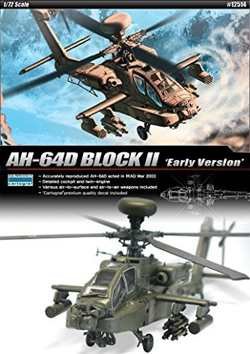 1/72 AH-64D BLOCK II Early Version #12514 ACADEMY HOBBY KITS by Academy Models