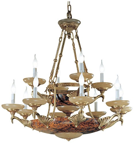Classic Lighting 55719 SBS Queen Anne II, Alabaster, Chandelier, 37