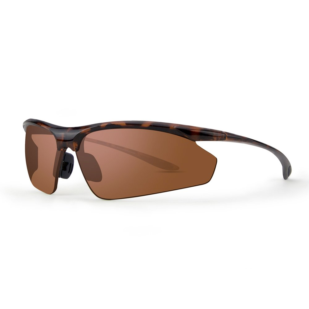 0d088ea9853 Amazon.com  Epoch 6 Sport Sunglasses with Tortoise Frame and Polarized  Super-Hydrophobic Amber Lens  Sports   Outdoors