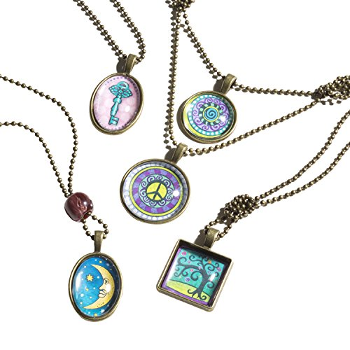 51nObSGr8qL - Melissa & Doug Jewelry Made Easy Press-a-Pendant Necklace-Making Set