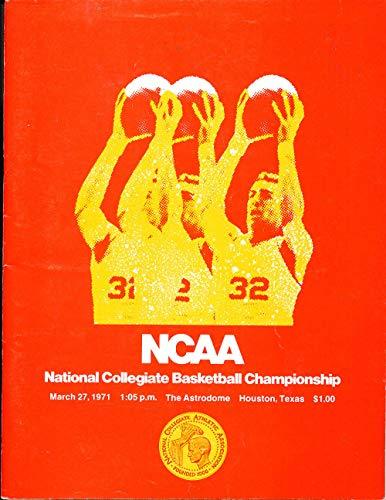 3/27 1971 NCAA Basketball Championship program Villanova vs UCLA unscored