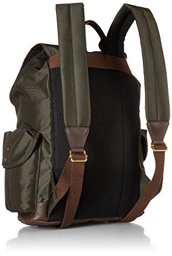 Men's Backpack Fossil Defender Trim Green Rucksack Leather fx47vq