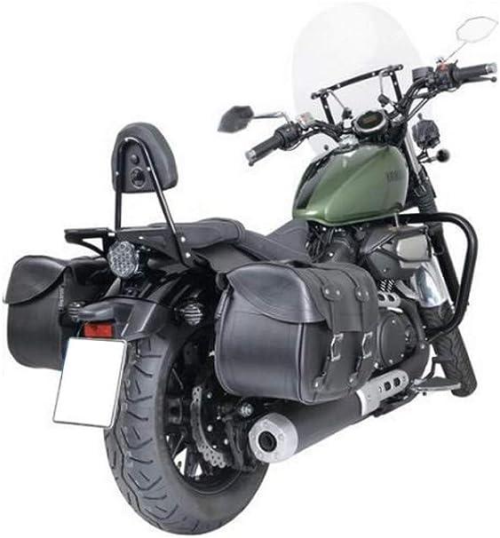 capienza 27 litri altezza 32 cm Coppia borse da sella posteriori per moto Harley Custom in pelle impermeabili larghezza 44 cm Cruizer