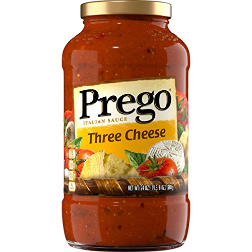 Prego Italian Pasta Sauce, Three Cheese, 24 Ounce (Packaging May Vary) (And Free Sauce Spaghetti Gluten)