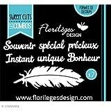 Florilèges Design FDD11516 Outil de Découpe pour Scarpbooking à la Plume Noir 11,5 x 12,5 x 0,2 cm