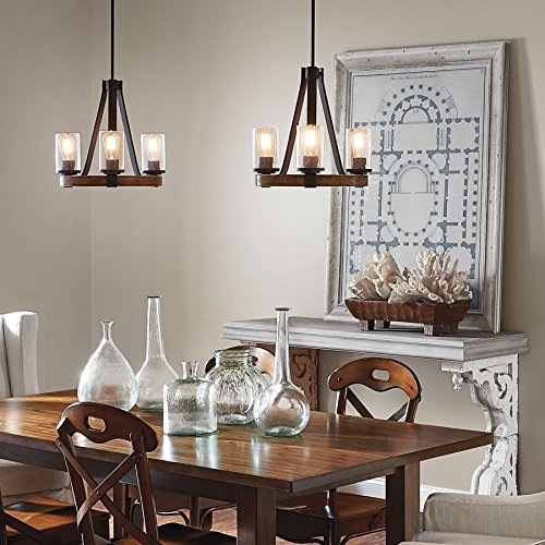 Kichler Barrington 17.99'' 3-Light Distressed Rustic Glass Candle Chandelier New! ..#G4E435T1 34452-3T793558