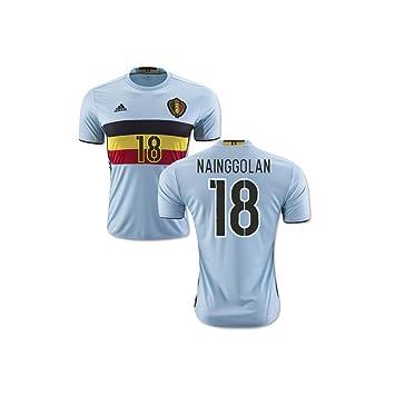 2bb30c115 2016-2017 Belgium Away Football Soccer T-Shirt (Radja Nainggolan 18)   Amazon.co.uk  Sports   Outdoors