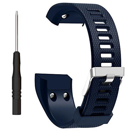 ZSZCXD Band for Garmin vivosmart HR+, Silicone Strap Replacement Wristband for Garmin vivosmart HR+ (No Tracker) (Navy)