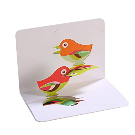 Amazon.com: Wansan Tarjeta de felicitación 3D, tarjeta de ...