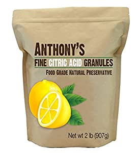 Citric Acid Granules by Anthony's, 2lb Non-GMO Food Grade Natural Food Preservative