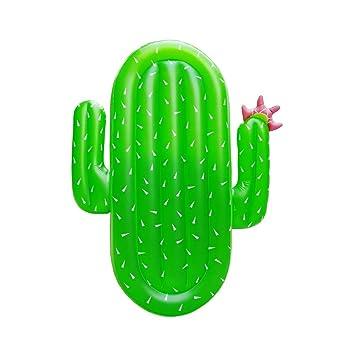 Boby Hinchable Cactus Flotador Inflable Gigante Colchoneta Piscina para Adultos Cactus 177 x 123 x 16 Centímetros
