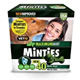 VetIQ Minties Dental Dog Treats, Value 2 Pack ( 80 Count Total ) Larger Image