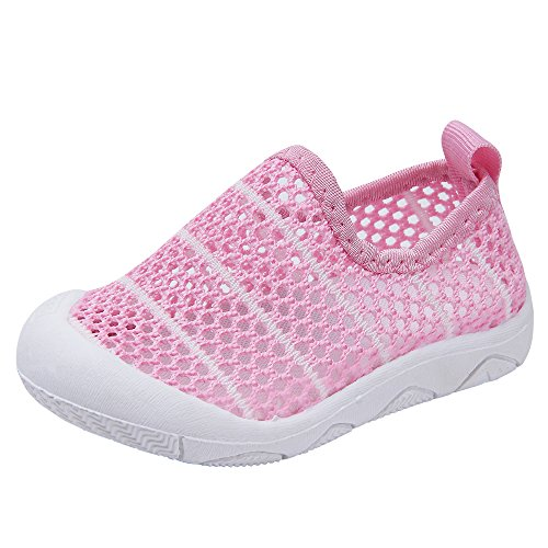 Baby Boys Girls Comfortable Breathable Mesh Outdoor Sneakers Summer Sandals Toddler Shoes (19(Inside length-14cm)(24-30months), Pink) by Kuner