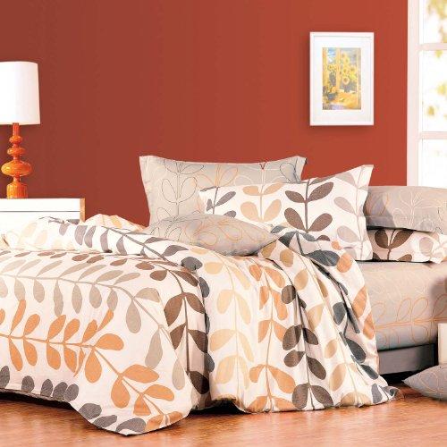 North Home Amelia 100-Percent Cotton 4-Piece Duvet Cover Set