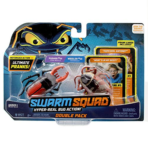 Swarm Squad Double Pack Set - Contains Two Hyper-Realistic Motorized Bug Toys That are Ready to Prank (Cockroach vs. Stag Beetle)]()