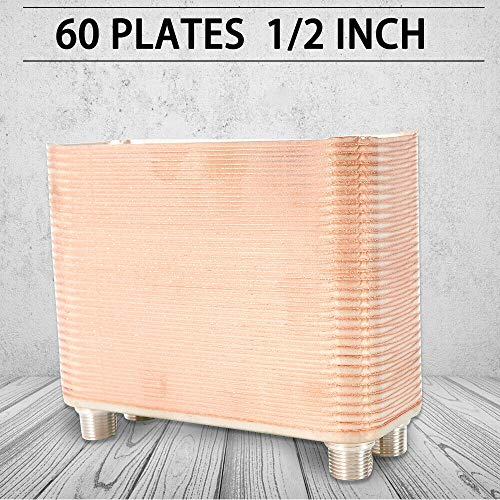- Stainless Steel 60 80 100 Plate Water to Water Brazed Plate Heat Exchanger 1/2