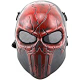 FAMI Punisher Skeleton Protective Mask Gear for Airsoft & Outdoor Cs War Game Live Field Mask - Scary Ghost Skull Mask for Halloween