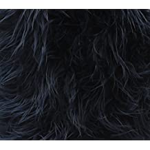 """Faux Fur Long Pile Mongolian Fabric NAVY / 60"""" Wide / Sold by the yard"""