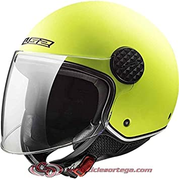 Casco Jet LS2 OF558 SPHERE LUX MATT HI VIS YELLOW talla S