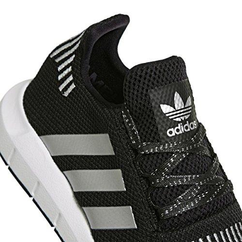 adidas Swift Run J, Zapatillas de Running Unisex Niños Negro (Negbas / Plamet / Ftwbla 000)