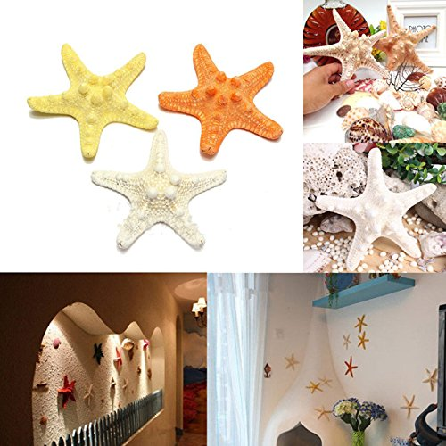 Decorative Crafts - Natural Artificial Starfish Ornament Accessories Wedding Decoration - Synthetic Sea Star Unnatural Ersatz Contrived Faux Unreal Colored False Factitious Simulated - 1PCs