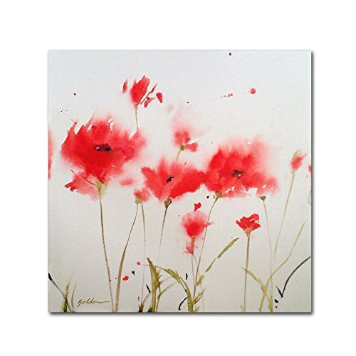 - A Poppy Moment Artwork by Sheila Golden, 24 by 24-Inch Canvas Wall Art
