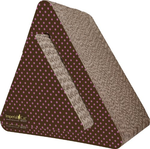 UPC 812601012517, Imperial Cat Triangle Combo Scratch and Shape, Pink Polka Dot