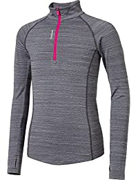 Girls' Cold Weather Compression Spacedye 1/4 Zip Long Sleeve Shirt
