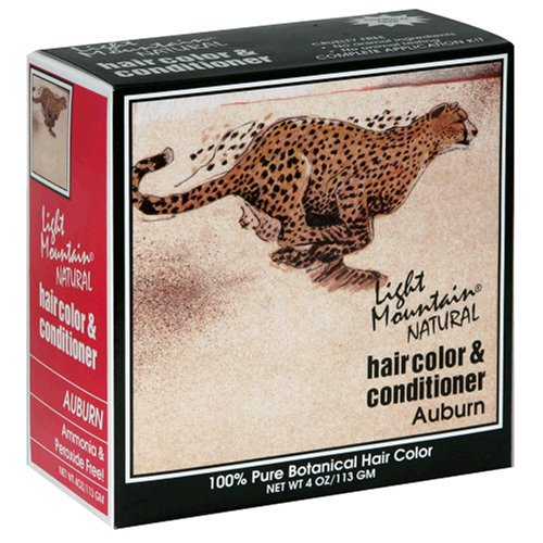 Light Mountain Natural Hair Color & Conditioner, Auburn, 4 oz (113 g) (Pack of 3) (Natural Hair Light Mountain Color)