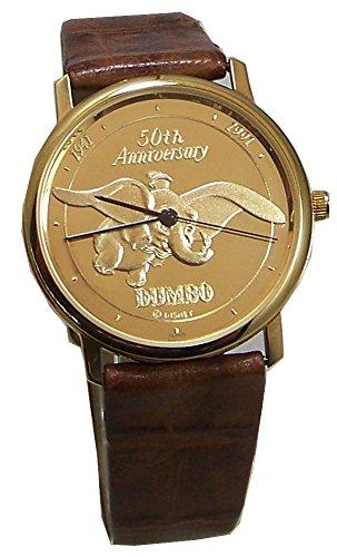 Walt Disney Dumbo Watch 50th Anniversary Gold Mens Pedre LE Wristwatch