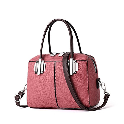 GWQGZ Bolso De Hombro Único Del Bolsillo Clásico De La Manera Simple Del Bolso De Las Señoras De La Moda Nueva Verde Pink
