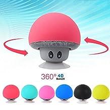 Rosbane(TM) Wireless m in i Bluetooth Speaker Portable Mushroom Waterproof Stereo Bluetooth Speaker for Mobile Phone iPhone Xiaomi Computer[ Red ]