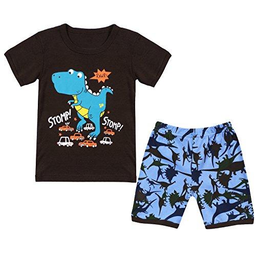 Tkala Fashion Boys Pajamas Children Clothes Set Dinosaur 100% Cotton Little Kids Pjs Sleepwear