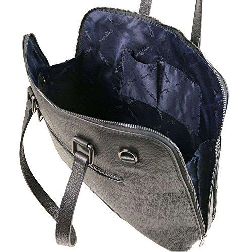Spalla Nero Leather Tuscany A Borsa Donna Compact Tl141630 w6A1WqI8
