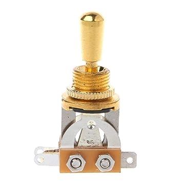 Interruptor selector conmutador Pickup 3 Vías de palanca para guitarra eléctrica: Amazon.es: Electrónica