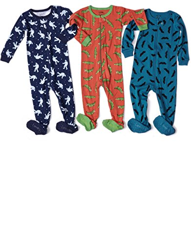 Leveret-Baby-Boys-Footed-Sleeper-Pajama-100-Cotton-Size-6M-5-Years