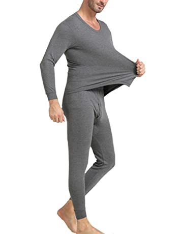 175a7120a88 OVERMAL Long Johns Underwear Set Mens 2pc Long Thermal Underwear Set Ultra  Soft Thermal Underwear Long