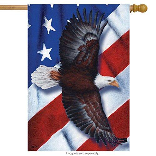 Briarwood Lane Patriotic Eagle Fourth of July House Flag Soaring USA 28