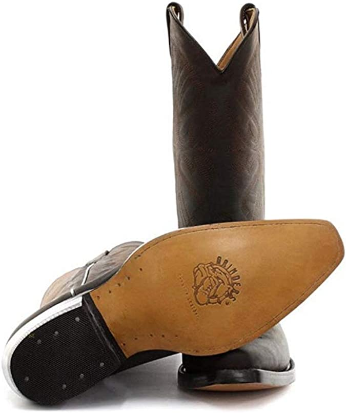 NEUF POUR HOMMES tailles UK 6-12 Gents Brown Wrangler /à enfiler montante Bottes Cowboy Marron